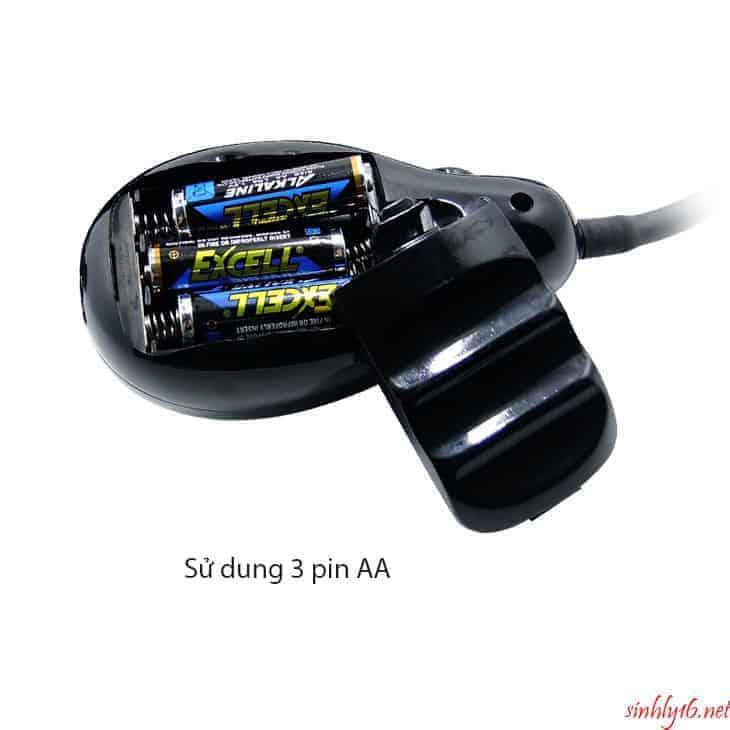 Dương vật dây đeo bơm hơi sử dụng Pin AAA