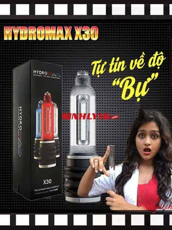 Làm to dương vật máy tập nước tạo áp suất Hydromax X30