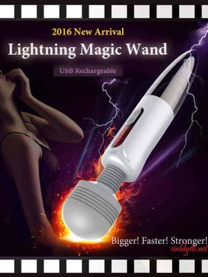 LETEN Lightning Huge Magic Wand Massager Powerful AV Vibrator Nipple Clitoris Stimulator Adult Erotic Toys Sex
