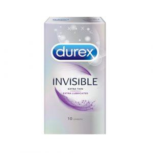 Bao cao su Durex Invisible Extra Thin hộp 10 bao