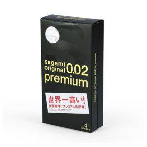 Bao cao su Sagami Original 0.02 Premium hộp 4 bao